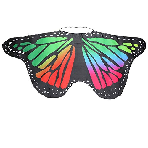 NUWFOR Halloween/Party Prop Soft Fabric Butterfly Wings Shawl Fairy Ladies Nymph Pixie Costume Accessory …(B-a,One Size)