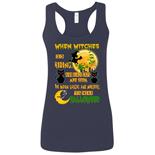 When Witches Go Riding, And Black Cats Are Seen The Moon Laughs And Whispers, 'Tis Near Halloween Tank Top for Women - Women Tank Top - Running Tank Top - Outdoor - Activities