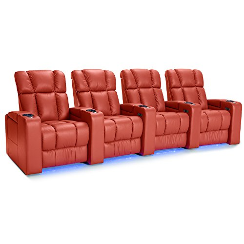 (Palliser Collingwood Leather Home Theater Seating Power Recline - (Row of 4,)