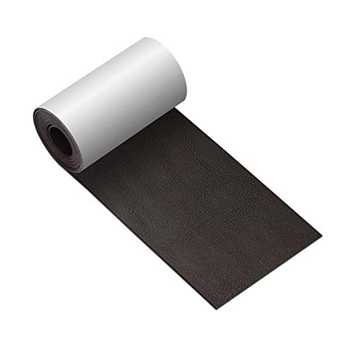 (Leather Repair Tape 3X60 inch Patch Leather Adhesive for Sofas, Car Seats, Handbags, Jackets,First Aid Patch (Black Brown) )