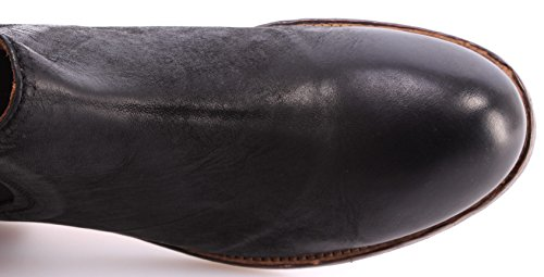 Scarpe Tronchetti Uomo MOMA 12706-BA Bandolero Nero Pelle Vintage Made ITA Nuove
