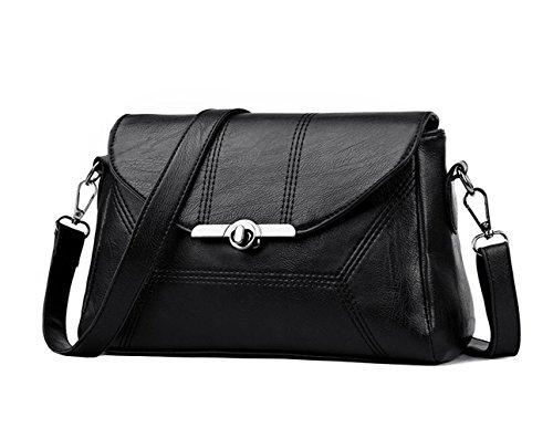 Bags Women's Handle Faux Black Cross Body Top Handbags Bags Leather Bags Shoulder qq4SCnvwx