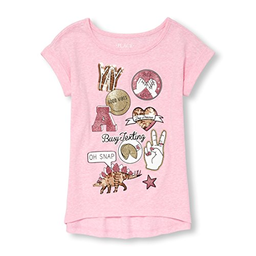The Children's Place Big Girls' Short Sleeve Active Top, Charisma 6922, M (Kids Places)