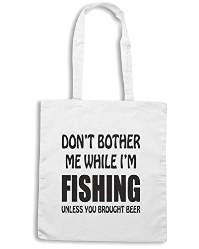 BOTHER Borsa Bianca IM 2 Speed WHILE ME DONT FUN1259 Shopper Shirt FISHING ORqY4nwU1
