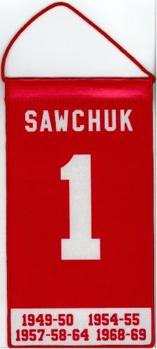 Terry Sawchuk Detroit Red Wings Mini Retirement Banner