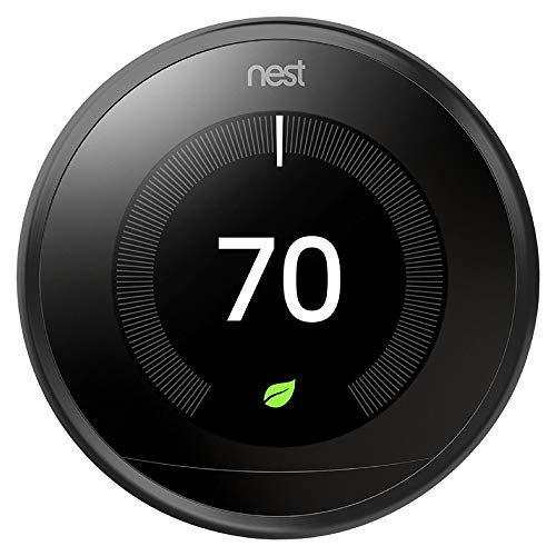 Black Nest T3016US USLearning Thermostat 3rd Generation , Compatible with Alexa