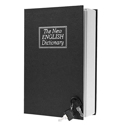 (DOPTHOI - English Dictionary Shape Saving Box Safe Book Piggy Bank with Key Cash s Saving Boxes Lock-up Storage Box)