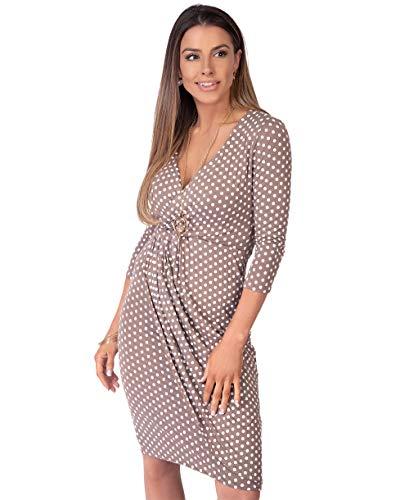 Krisp 3/4 Polka Dress (Size UK 16/US 12)(6487-MOC-16)