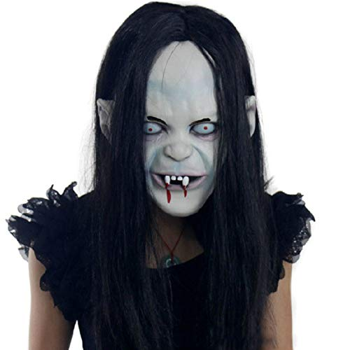 Halloween Creepy Masks for Girls Novelty Terror Demon Costume Mask for Props for $<!--$7.17-->