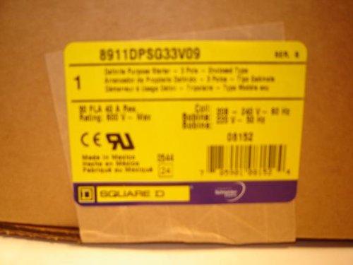 Motor Starter 10hp 3ph 230V definite purpose magnetic motor starter from Square D 8911dpsg33v09 by Square D (Image #1)