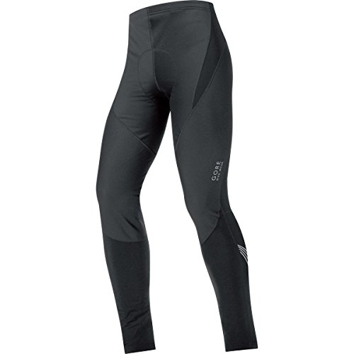 Gore Tights - GORE BIKE WEAR Men's Element WINDSTOPPER Soft Shell Tights+, Black, Medium