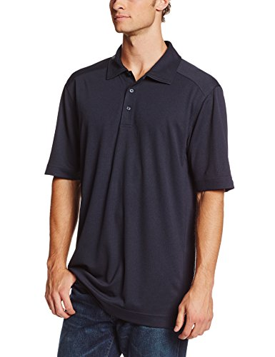 (Cutter & Buck Men's Big-Tall Cb Drytec Genre Polo Shirt, Navy Blue, 3XT )