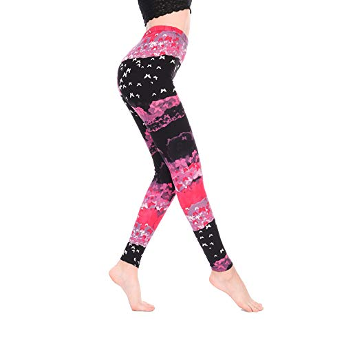 DYHDelf Leggings Super Soft Popular Printed Women's Leggings (Butterly Dreamy Pink, One Size Fits All:0(XS)-12(L))