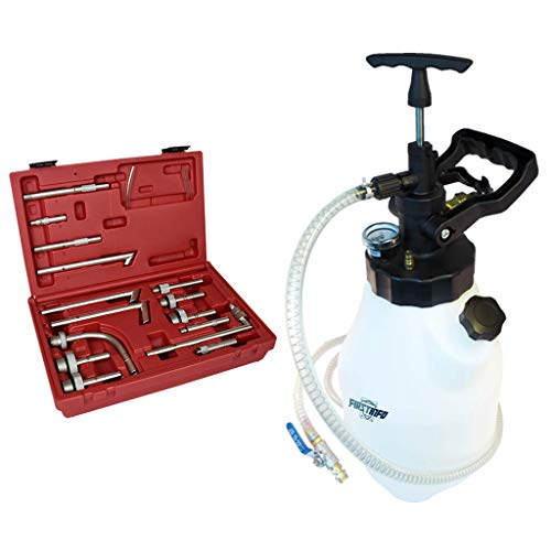 FIRSTINFO 12.5L Pneumatic and Manual 2 Way Auto Transmission Fluid (ATF) Oil & Fluid Dispenser Refilling System Pump with 15 Adapters Set by FIRSTINFO TOOLS FIT YOUR NEEDS (Image #8)
