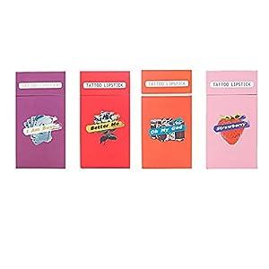 20pcs/Set of Lipstick Cigarette Cotton Swab Lipstick, Durable Waterproof Liquid Non-Stick Lipstick, Easy to Carry…