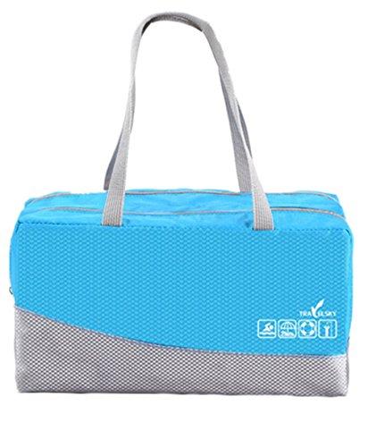 JWBBU Wasserdichte Sporttasche Schwimmtasche Training Bag (Blau)