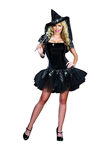 Starry Night Witch Costumes - Dreamgirl Women's Starry Night Witch Dress,