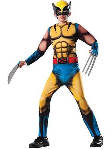 Rubie's Marvel Classic Universe Child's Deluxe Muscle-Chest Wolverine Costume, Medium]()