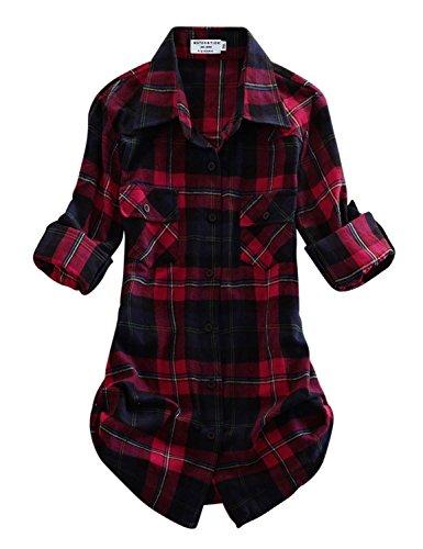 Buy plaid shirts womens
