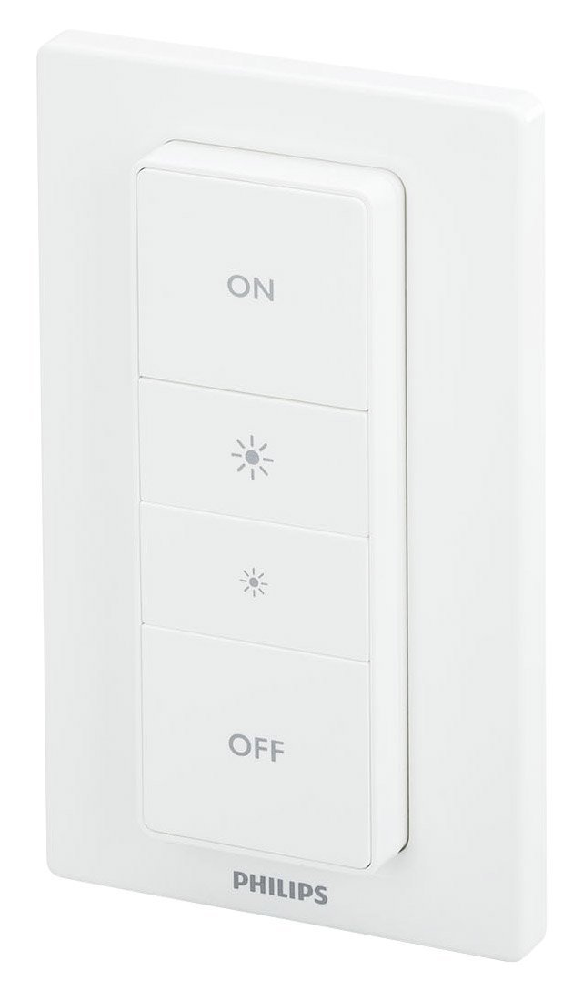 Philips 798082 Smart Home Hue Dimmer Switch with Remote, 1, White (Certified Refurbished)