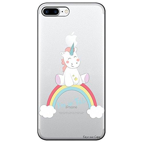 Capa Transparente Personalizada para Apple Iphone 8 Plus - Baby Unicórnio...