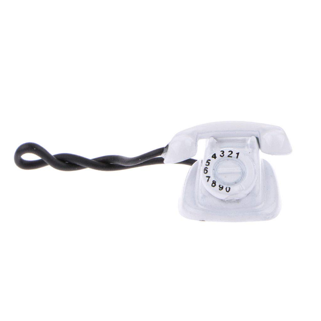 1:12 Old Style Telephone Model Dolls House Miniature Home Decor