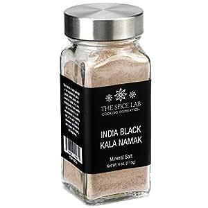 The Spice Lab (French Jar) Indian Kala Namak Mineral Salt - Himalayan Black Salt - Vegan kala namak salt Pure and Natural Indian Black Salt Gluten Free - Vegan Tofu Scrambles - Natural Egg Taste