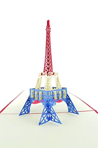 PopLife Eiffel Tower, Paris 3D Pop Up Greeting Card for All Occasions - Travellers, Romantics, History Lovers - Folds Flat for Mailing - Birthday, Graduation, Retirement, Anniversary, Engagement ()
