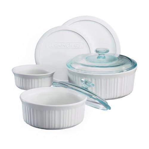 CorningWare French White 7-Piece Bake and Serve Set