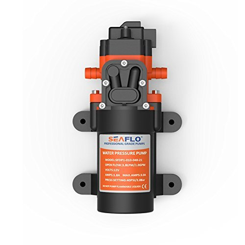 SEAFLO 12v Diaphragm Water Pressure Pump 3.8 LPM 1.0 GPM 40 PSI for Caravan/RV/Boat/Marine by Seaflo (Image #3)