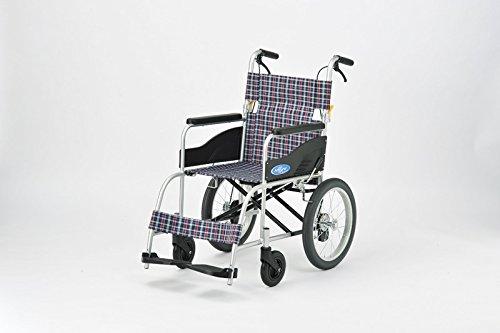 日進医療器 アルミ製車いす NEO-2 ノーパンクタイヤ 介助式 介助ブレーキ付き 軽量 車椅子 車イス B01FBGZA98