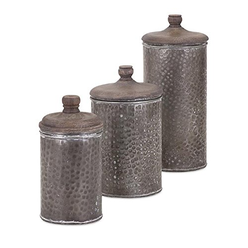 IMAX 95714 3 Brampton Lidded Canisters
