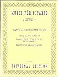 Musica del Renacimiento - Renaissance Dances para Guitarra (Scheit)