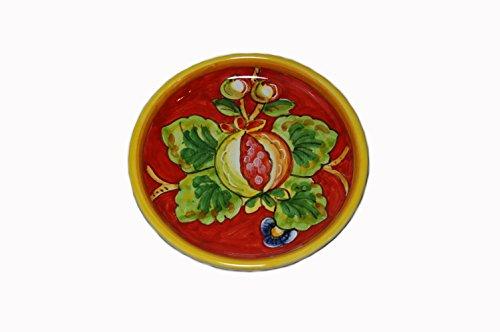 Frutta Rossa Hand Painted Italian Ceramic Wine Coaster Made in Italy