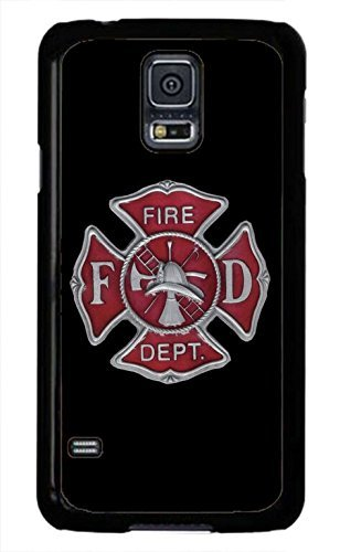 Cell World LLC - Firefighter Fire dept. Fireman Logo Symbol Black case Cover Hard Rubbere Black Case Cover Compatible with Samsung Galaxy Note 10 + Plus (6.8 Inch 2019 Model) (Best Nhl Fighters 2019)