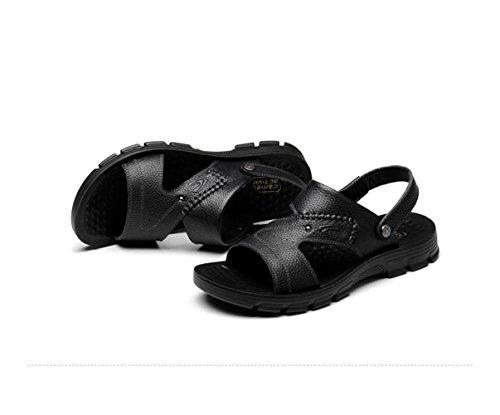 Antideslizantes De Verano Hombres Playa Para Sandalias Zapatillas Black FUYPdxFq