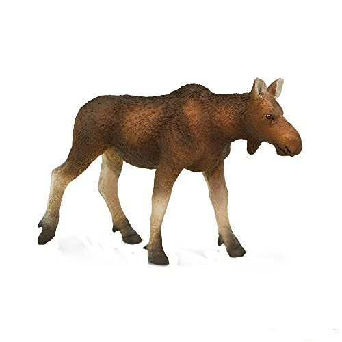 Female Moose - Safari Ltd. North American Wildlife Cow Moose - Realistic Hand Painted Toy Figurine Model - Quality Construction from Phthalate, Lead and BPA Free Materials - For Ages 3 and Up