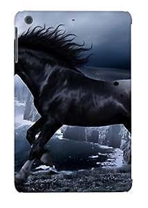 Podiumjiwrp Brand New Defender Case For Ipad Mini/mini 2 (black Horse On The Cliff ) / Christmas's Gift