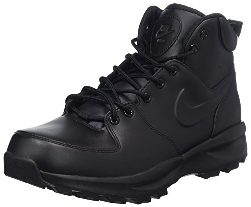 003 Uomo Nike Manoa Stivaletti black Leather Nero YCzYnqf