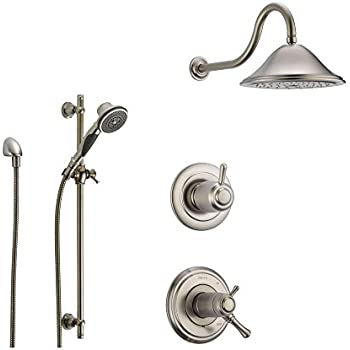 Genial Delta Cassidy Stainless Steel Shower System With Thermostatic Shower  Handle, 3 Setting Diverter,