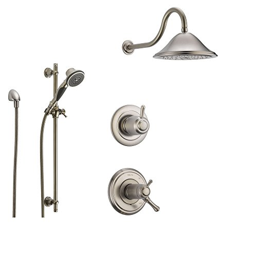 Stainless Thermostatic 3 setting Showerhead SS17T9782SS