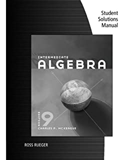 Intermediate algebra textbooks available with cengage youbook student solutions manual for mckeagues intermediate algebra 9th fandeluxe Images