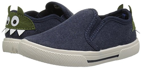 Pictures of carter's Boys' Damon7 Casual Loafer, Navy, 8 M US Toddler 4