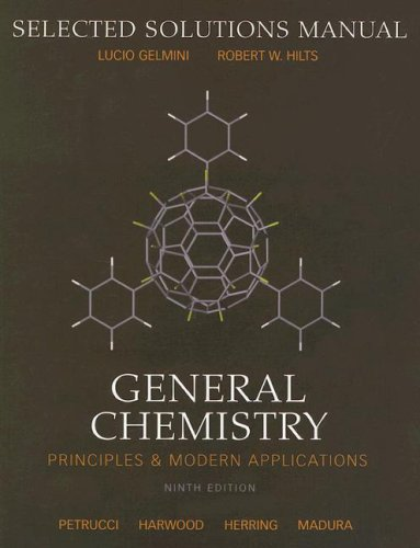 General Chemistry: Selected Solutions Manual