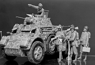 1/35 Master box Italy infantry and Panzer 1 world Second World War plastic MB35144