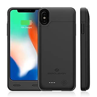iPhone X Battery Case with Qi Wireless Charging Supported, ZeroLemon iPhone X 4000mAh Slim Juicer Extended Battery Rechargeable Case for iPhone X[Apple Certified Connector]-Black