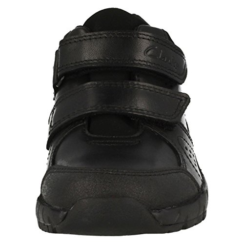 Clarks ZeviFunGTX Jnr Boy's School Shoes in Black Black Leather