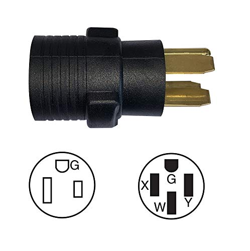 ONETAK NEMA 14-50P to 6-50R 240V 50 Amp Welder Welding Dryer EV Charger Compact Power Cord Adapter Adaptor Connector Connecter by ONETAK