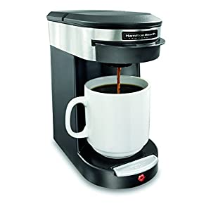 Hamilton Beach Commercial HDC200S Coffeemaker, 1 Cup, Black/Silver, Single Serve Pod Brewer