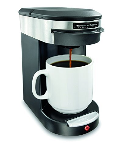 Hamilton Beach Commercial HDC200S Coffeemaker, 1 Cup, Black/Silver, Single Serve Pod (Cup Pod Brewer)